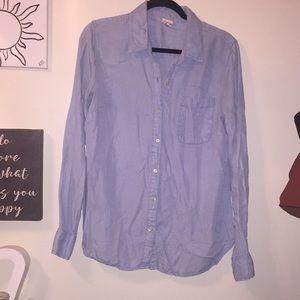 Medina XL Chambray Light Wash Denim Shirt
